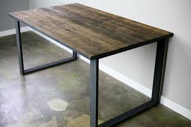 Reclaimed Wood And Steel Dining Table