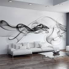 Smoke Fog Photo Wallpaper Modern Wall Mural 3D View Designer Art Black White Room Decor Bedroom Office Living Elegant