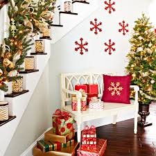 Tree Wall Decor Ideas by 23 Gorgeous Christmas Staircase Decorating Ideas