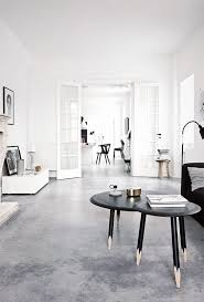 Polished Concrete Floors Look Perfect In This Scandinavian Living Room