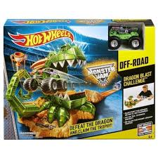 100 Monster Truck Track Set Hot Wheels Jam Dragon Blast Challenge Online Toys