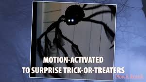 Motion Activated Halloween Decorations by Halloween Spider Sku 87954 Plow U0026 Hearth Youtube