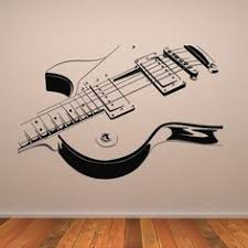 Guitar Wall Art Decor Sample Brown Wooden Cream White Wallpaper Bass Design Posters And Prints