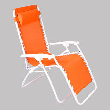 shop jordan manufacturing orange steel folding patio zero gravity