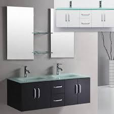 galaxy badschrank 150cm in schwarz oder weiß mit doppelwaschbecken aus grünem kristallglas
