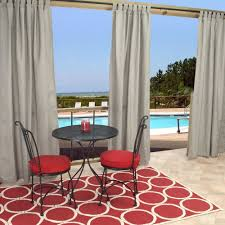 Sunbrella Curtains With Grommets by Amazon Com Outdoor Curtains Cur108cls 54 In X 108 In Sunbrella