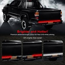 100 Tailgate Truck 60 2 Row LED Light Bar Strip Waterproof RedWhite