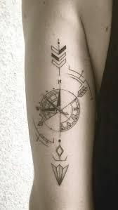 Geometric Compass Tattoos Design On Sleeve Ideas For Guys
