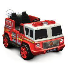 100 Kid Trax Fire Truck Parts Motorz Two Seater Engine Battery Powered Riding Toy Red
