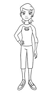 Gwen Tennyson Coloring Page