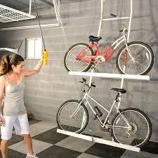 Ceiling Mount Bike Lift Walmart by Garage Bike Rack Walmart Bicycle Garage Wall Mount Garage Bike