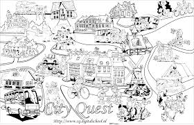 City Coloring Pages In