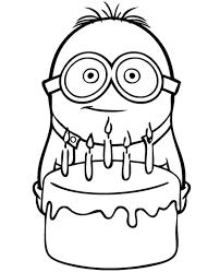 Birthday Cake From Minions Print Friendly