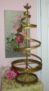 Antique Decorative Brass TOLEWARE Spiral Tree By Pinkvintagerose TreeOrnament TreeDisplay StandsVintage