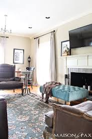 Gorgeous Neutral Living Room With Blue And Turquoise Accents Mix Of Antiques Affordable Pieces