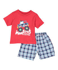 Teddy Boom Red Monster Truck Tee Set - Newborn, Infant & Toddler ... Monster Truck Assorted Kmart 100 Cotton Long Sleeve Bulldozer Boys Pajamas Children Sleepwear Sandi Pointe Virtual Library Of Collections Baby Toddler Boy Tig Walmartcom Trucks Kids Overall Print Pajama Set Find It At Wickle 2piece Jersey Pjs Carters Okosh Canada 2pack Fleece Footless Monstertruck Amazoncom Hot Wheels Jam Giant Grave Digger Mattel Teddy Boom Red Tee Newborn Infant Brick Wall Breakdown Track Brands For Less Maxd Dare Devil Yellow Tshirt Tvs Toy Box