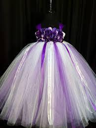 white purple flower girl dress tulle flower girl dress tutu