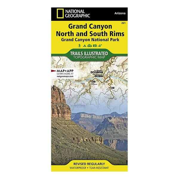 National Geographics Maps Grand Canyon North and South Rims Illustrated Map