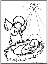 Coloring Pages Baby Jesus 8 Printable Free