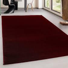 teppich kurzflor modern wohnzimmer einfarbig meliert uni günstig rot größe 60x100 cm