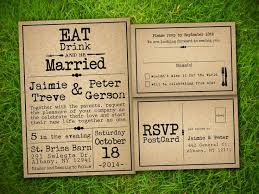 Vintage Rustic Style Wedding Invitations