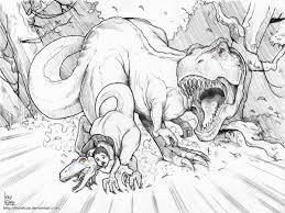 Coloriage T Rex Furax Coloriages De Dinosaures Coloriages Pour