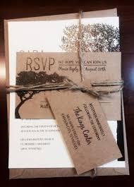 Rustic Wedding Invitations Tree Jute Wrapped Summer Spring Winter Ivory Brown Fall Oak