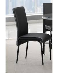 Athena Black Metal And Vinyl Dining Room Chair Set Of Four