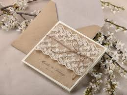 Rustic Wedding Invitations Pocketfold 20 Invitation Suite Lace