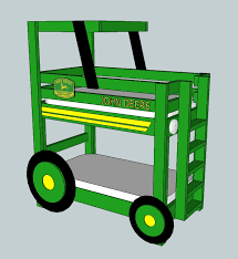 ana white john deere tractor toddler bunk beds diy projects