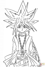 Click The Yugi Muto From Yu Gi Oh Coloring Pages