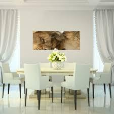 bild bilder wandbild 100x40 cm löwen wanddeko kunstdruck