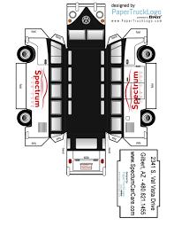 100 Paper Truck Spectrum Car Care Official Model Vehicle Gilbert Auto Repair