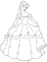 Belle Coloring Pages Print Disney Princess Games Online Free Printable Christmas Color Sheets Large Size
