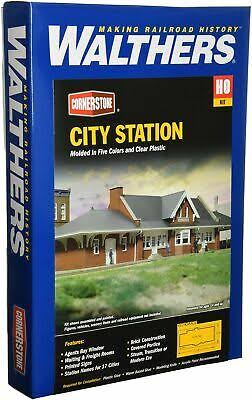 Walthers Cornerstone 933-2904 City Station Building Kit - HO Scale