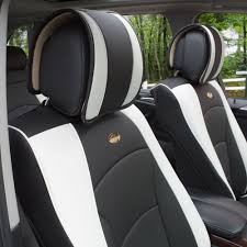 BESTFH: Car SUV Truck PU Leather Seat Cushion Covers Front Bucket ... Dodge Ram Pickup Seat Covers Unique 1500 Leather Truck Seat Covers Lvo Fh4 Black Eco Leather For Jeep Wrangler Truck Leatherlite Series Custom Fit Fia Inc Auto Upholstery Convertible Tops Mccoys New York Ny By Clazzio Man Tga Katzkin Vs 20pc Faux Gray Black Set Heavy Duty Rubber Diamond Front Cover Masque Luxury Supports Car Microfiber