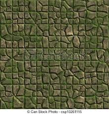 Mossy Stone Seamless Texture Clipart
