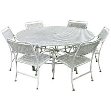 Seven Piece Cast Aluminium Scroll Arm Metal Patio Dining Set ... Sherly Retro Ding Chair How To Paint Metal Chairs Blue Kitchen Extraordinary Hoyt Side Ray Carpet Room Cody Scenic And Tables Height Modern Set Barclay Upholstered In 2019 Black Wayfair Glass Cushions Stuff Long Folding Lebanon Table Cabinets Photos Of Fniture Chrystal Metallic Lack Surprising End Easel Mesh Round 50 Off Cushioned Femke Ophelia Co Leona