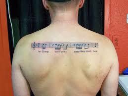 Sheet Music Tattoo Designs