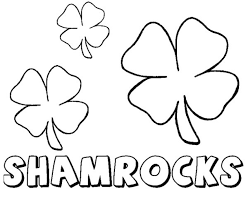 Shamrock Coloring Pages Childrens Printable