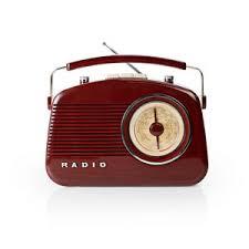 details zu konig 50 s 60 s retro design table radio brown
