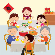 Royalty Free Chinese New Year Family Clip Art Vector