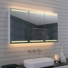 aqua led beleuchtung badezimmerschrank spiegelschrank badschrank kosmetikspiegel mla1270 d1 silber 1200mm x 700mm x 127mm