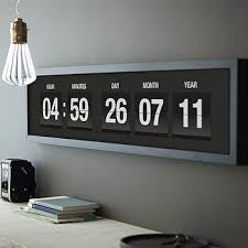 Personalised Vintage Flip Clock Print Digital ClocksDigital WallModern