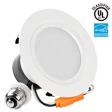 White Downlighter Conversion Kit Convert by 18watt 5 6 Inch Energy Star Ul Listed Led Recessed Light Torchstar
