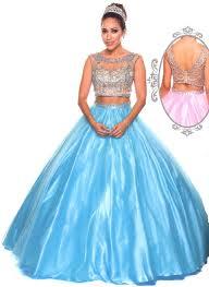 prom dresses quinceanera dresses u003cbr u003eajt338 u003cbr u003etwo piece ball gown