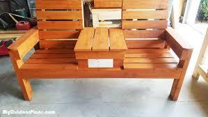 diy double bench myoutdoorplans free woodworking plans and