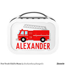 100 Fire Truck Lunch Box Childs Name Gift Guide Gifts For Kids