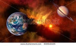 Outer Space Planet Earth Saturn Sun Astrology Milky Way Solar System Galaxy Universe Elements Of