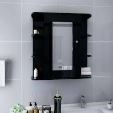 bad spiegelschrank schwarz 66x17x63 cm mdf